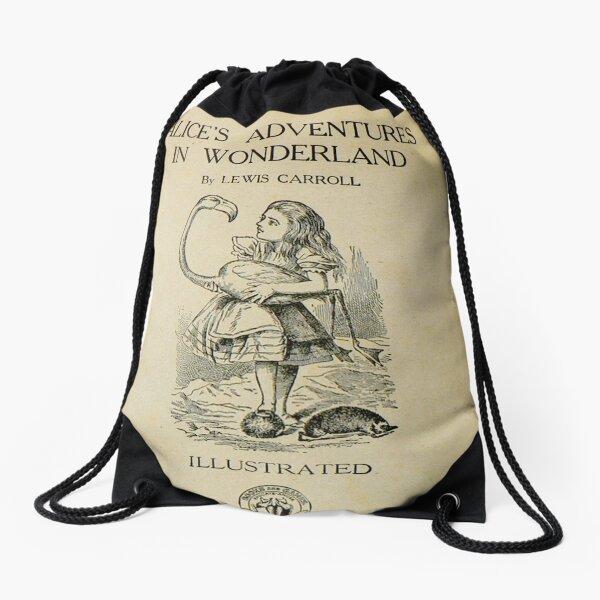 Alice in wonderland cover Drawstring Bag