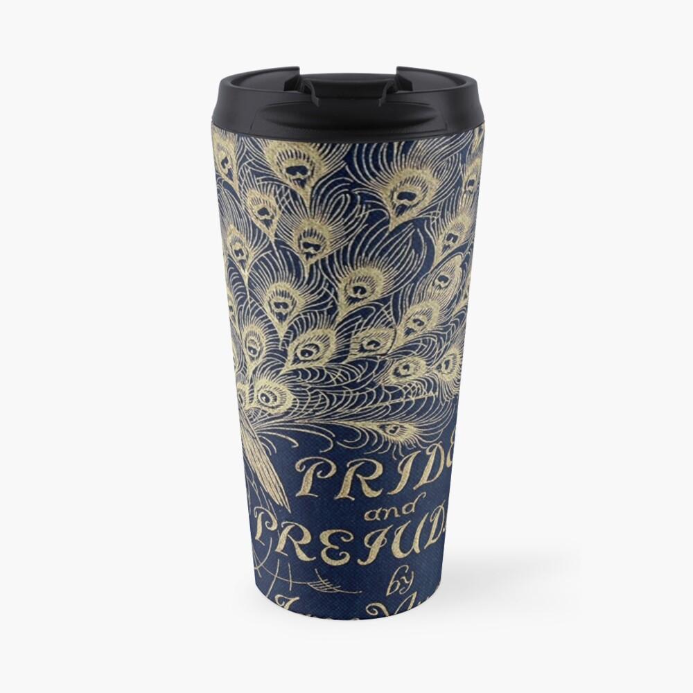 Pride and Prejudice Peacock Cover Travel Mug