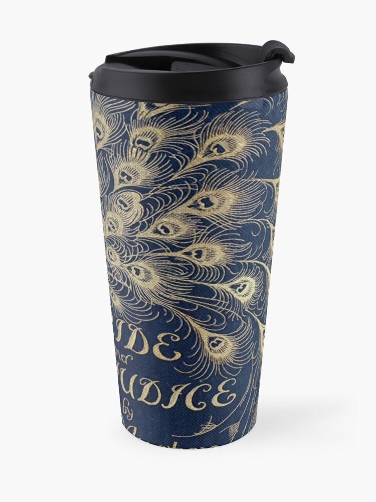 Alternate view of Pride and Prejudice Peacock Cover Travel Mug
