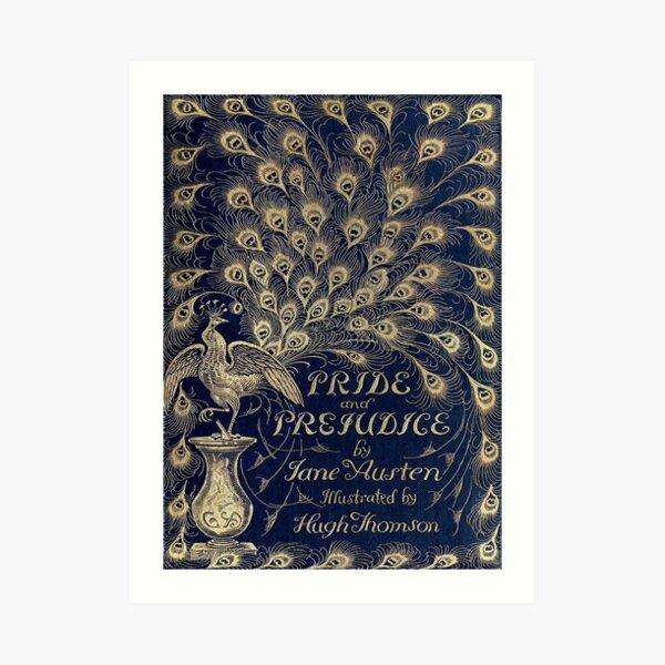Pride and Prejudice Peacock Cover Art Print