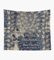 Pride and Prejudice Peacock Cover Tapestry