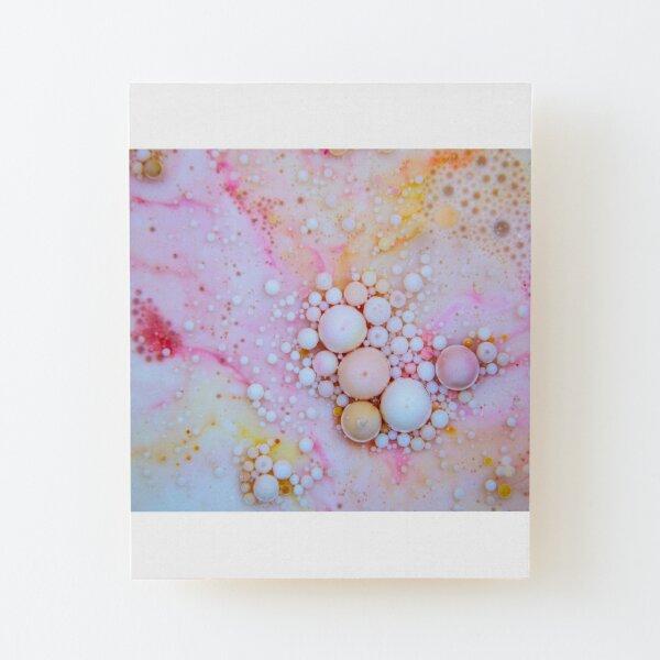 Bubbles-Art - Sweet Wood Mounted Print