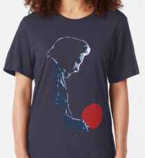 Johnny Cash Red Paddle Slim Fit T-Shirt