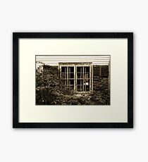 Decayed windows Framed Print