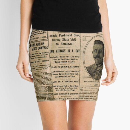 Newspaper article on the assassination of Archduke Franz Ferdinand. Old Newspaper, 28th June 1914, #OldNewspaper #Newspaper Mini Skirt