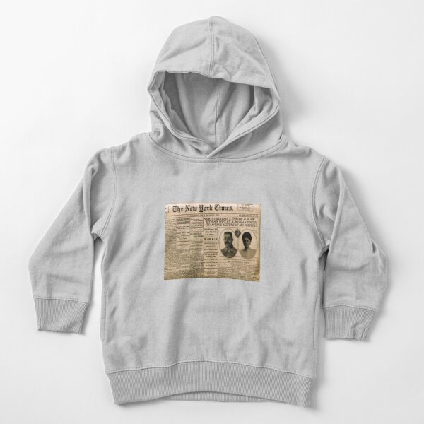 Newspaper article on the assassination of Archduke Franz Ferdinand. Old Newspaper, 28th June 1914, #OldNewspaper #Newspaper Toddler Pullover Hoodie