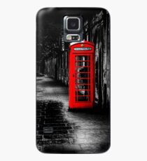 London Calling - Red British Telephone Box Case/Skin for Samsung Galaxy
