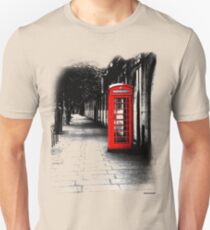 London Calling - Red British Telephone Box T-Shirt
