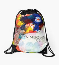 Rainbowitis Carrier - exclusive by Jane Davenport Drawstring Bag