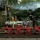 Adler steam locomotive replica underway in 1985,Germany. by David A. L. Davies