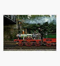 Adler steam locomotive replica underway in 1985,Germany. Photographic Print