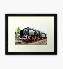 German class 50 steam locomotive, Franconia, Germany. 2010 Framed Print