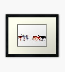 The Wolves of Winterfell Framed Print