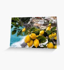 Amalfi Coast Lemon Tree  Greeting Card