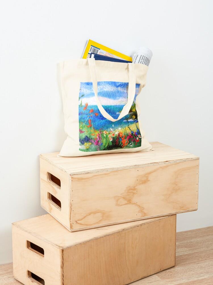 Alternate view of Seaside meadow Tote Bag