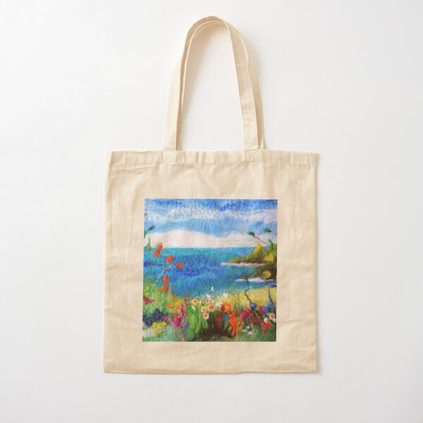 Seaside meadow Cotton Tote Bag