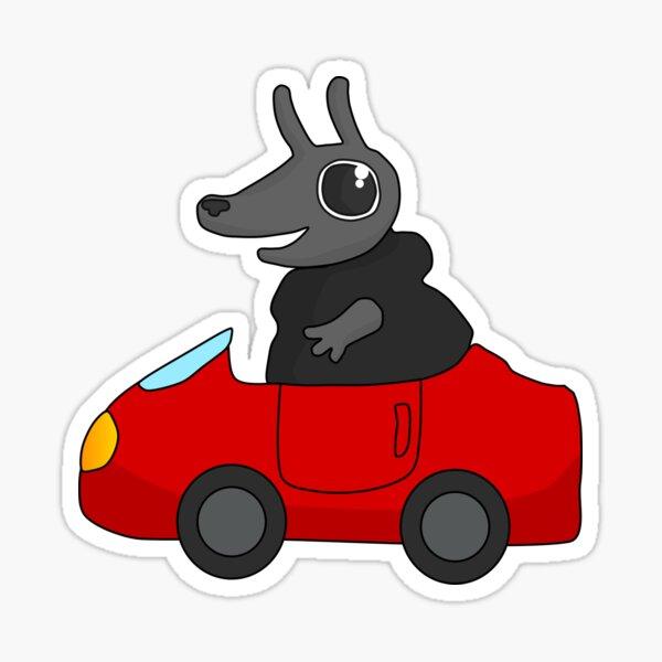 Critter Outbreak – Driving a Car! Sticker