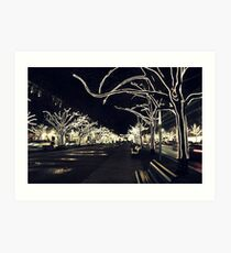 City Lights - Unter den Linden  Art Print