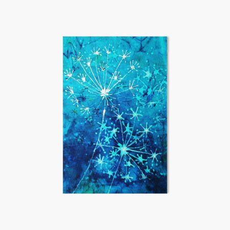 Batik dandelion clocks Art Board Print