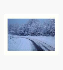Snowy Hill - South Wales Art Print