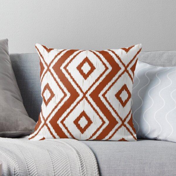 Rust Ikat Throw Pillow