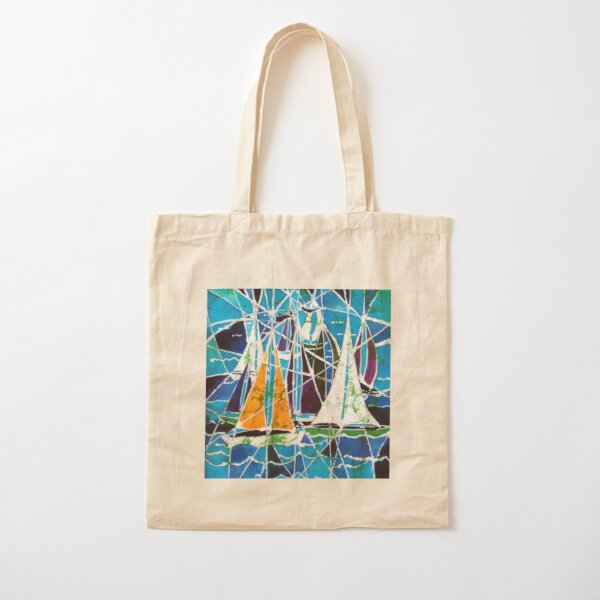 Batik Boats Cotton Tote Bag