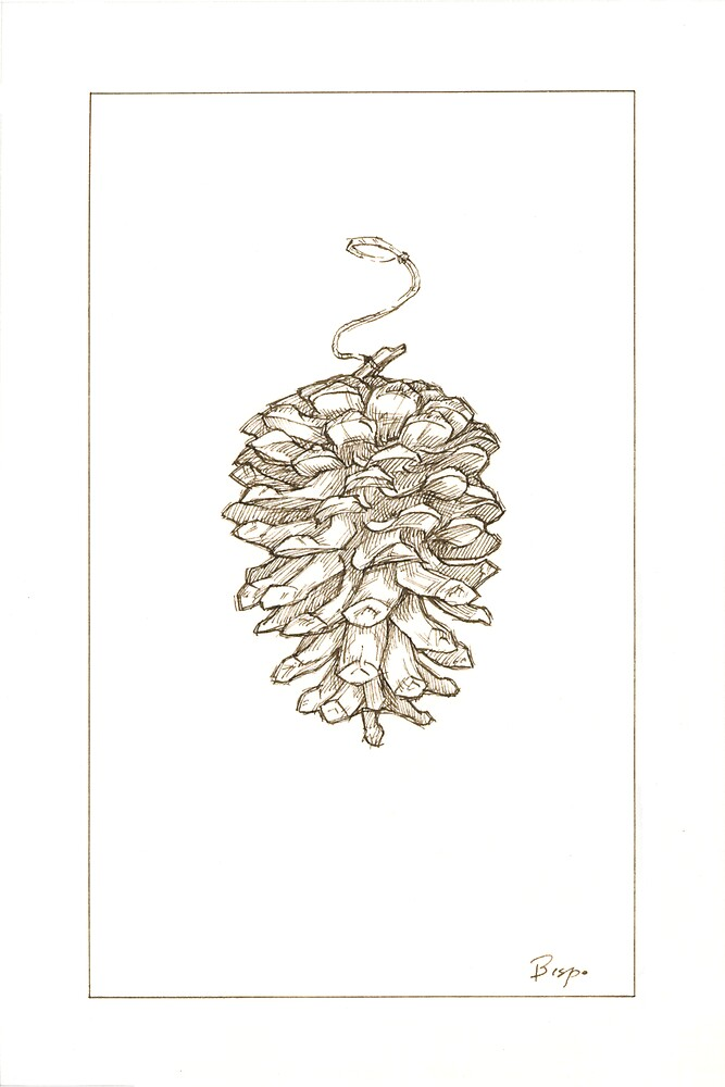 Pine cone 1 - Christmas card by llawrence