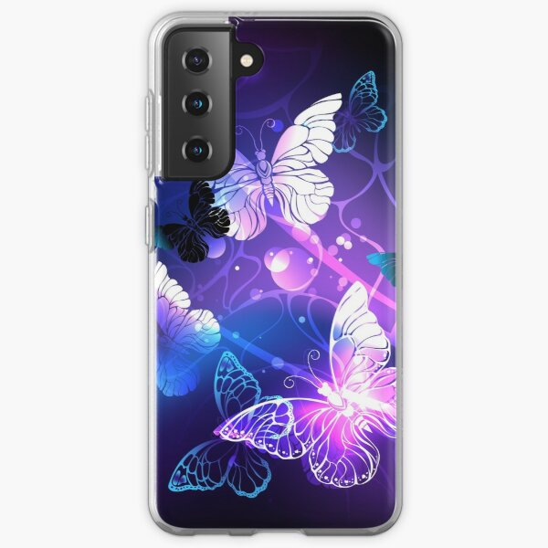 Background with Night Butterflies Samsung Galaxy Soft Case