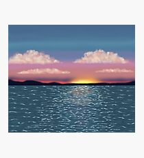 Tranquil Ocean Sunset Print Photographic Print