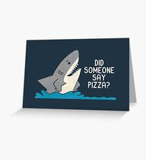 Hungry Shark Greeting Card