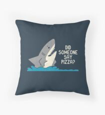 Hungry Shark Throw Pillow