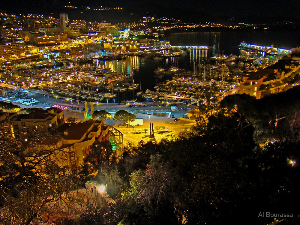 Marina Of Monaco by Al Bourassa