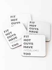 Fit Hot Guys have Problems Too Crazy Ex-Girlfriend Fan Art Coasters