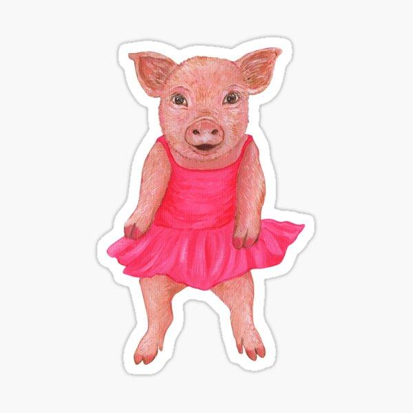 The Pink Piglet Sticker