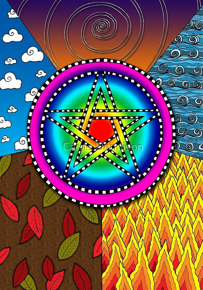 Pentagram by Carrie Dennison