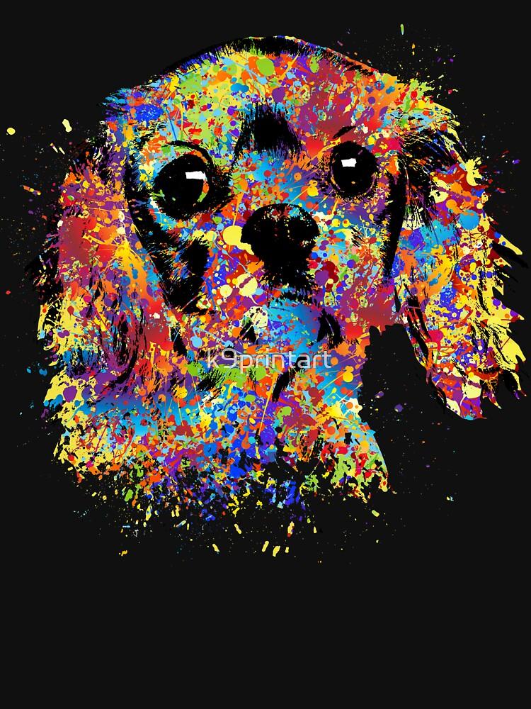 Colorful Cavalier King Charles Spaniel by k9printart