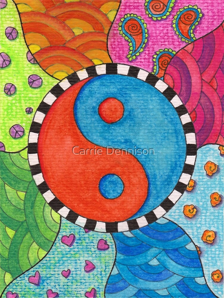 Yin Yang - Spring Days by Carrie Dennison