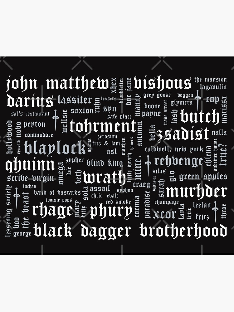 Black Dagger Brotherhood Word Cloud - Landscape by mymymagic