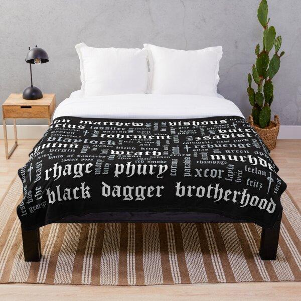 Black Dagger Brotherhood Word Cloud - Landscape Throw Blanket