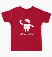 Android Eat Apple Kids Tee