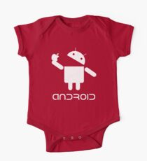 Android Eat Apple One Piece - Short Sleeve