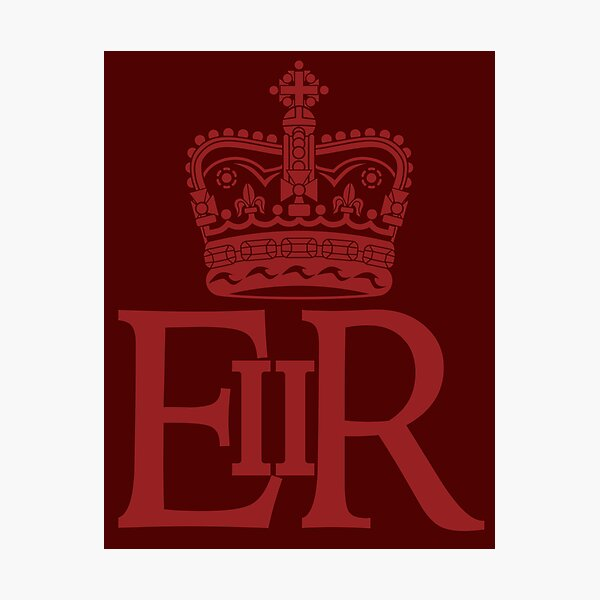 The Royal Cypher of Queen Elizabeth II Photographic Print