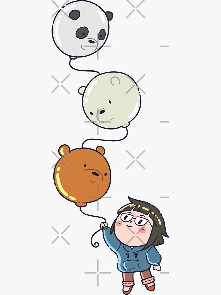 We Bare Bears balloon by jkyuu