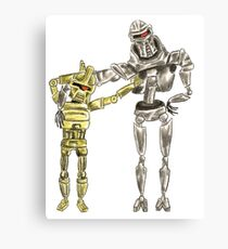 Cute Cylon Siblings Canvas Print
