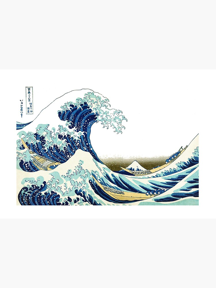 HOKUSAI. The Great Wave off Kanagawa, BRIGHTENED. by TOMSREDBUBBLE