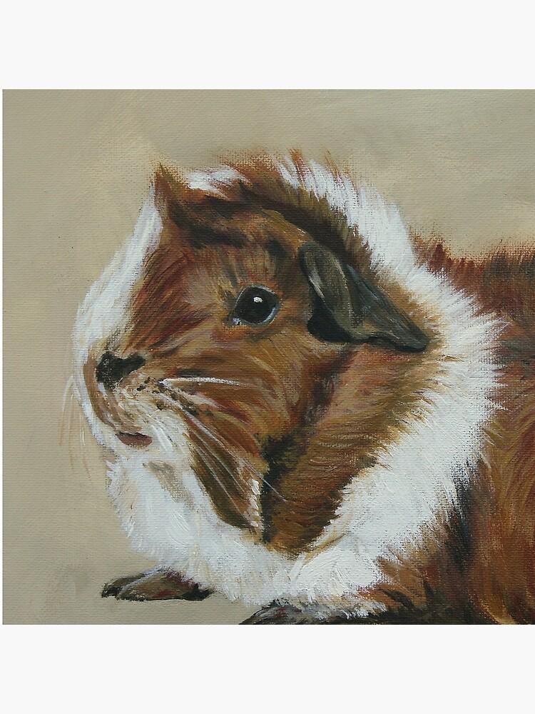 """Lucky"" Gorgeous Guinea Pig by lyndseyart"