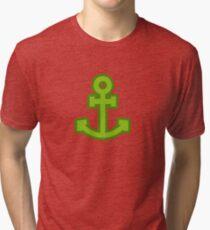 Green Anchor Tri-blend T-Shirt