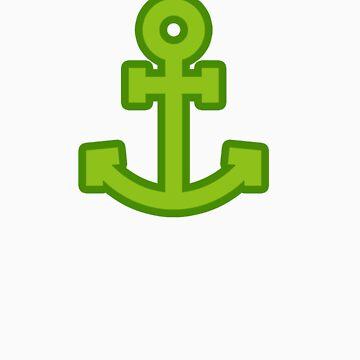Green Anchor by dockerland