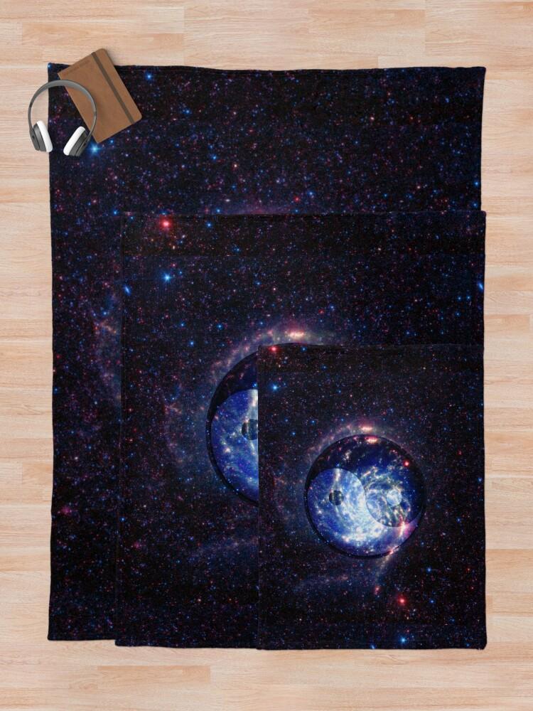 Alternate view of The Yin Yang Energy Swirl Throw Blanket