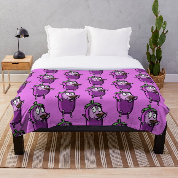 Courage the Cowardly Dog™ in the Great Eggplant Costume Throw Blanket